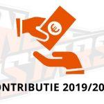 HERINNERING: Contributie 2019/2020
